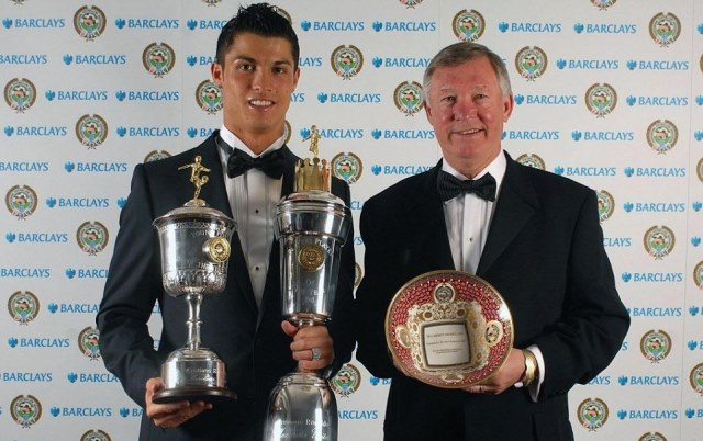 Ronaldo and Alex Ferguson