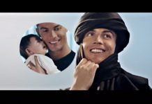 Cristiano Ronaldo in Egypt dressed as an Arab for video commercial of Egyptian Steel