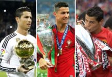 Cristiano Ronaldo: Ballon d'or winner even at Real Madrid, Euro 2016 titleholder with Portugal, English Premier League champion at Manchester United.