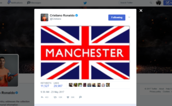 Ronaldo sympathizes with Manchester Arena victims