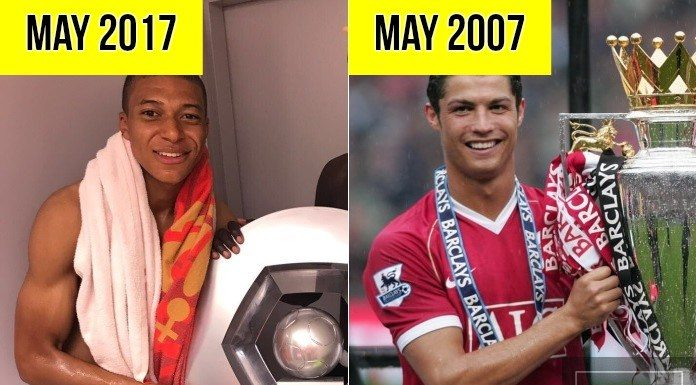 Cristiano Ronaldo vs Mbappe: when they first won the league
