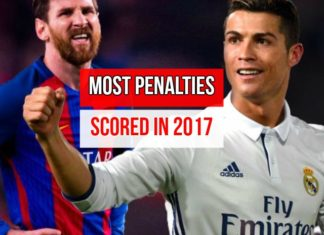 Ronaldo and Messi. Who has the most penalty goals in 2017?
