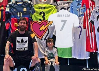 Messi's jersey collection: No Cristiano Ronaldo shirt?