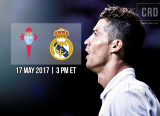Celta Vigo vs Real Madrid on May 17, 2017