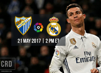 Malaga vs Real Madrid, La Liga Matchday 38 on May 21