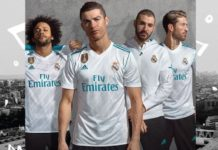 Ronaldo models Madrid kit 2017/2-18