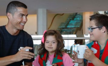 Ronaldo meets children with special need in Portugal