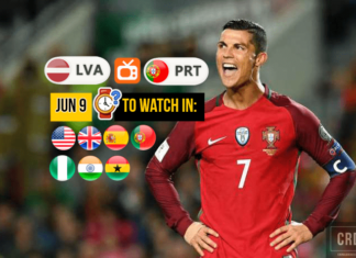 Cristiano Ronaldo in Latvia vs Portual