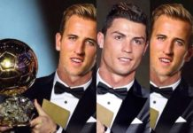 Harry Kane Ballon d'Or photoshop of Cristiano Ronaldo