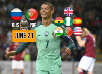 Watch Ronaldo live in Russia vs Portugal on June 21