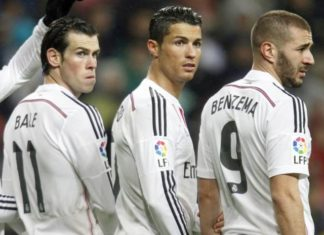 Bale, Benzema and Cristiano