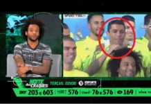 Marcelo on Esporte Interativo's Noite de Craques talking about his friendship with Cristiano Ronaldo. CR7 plays with Marcelo's hair.