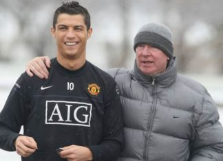 Cristiano Ronaldo and Sir ALex Ferguson in Manchester United.