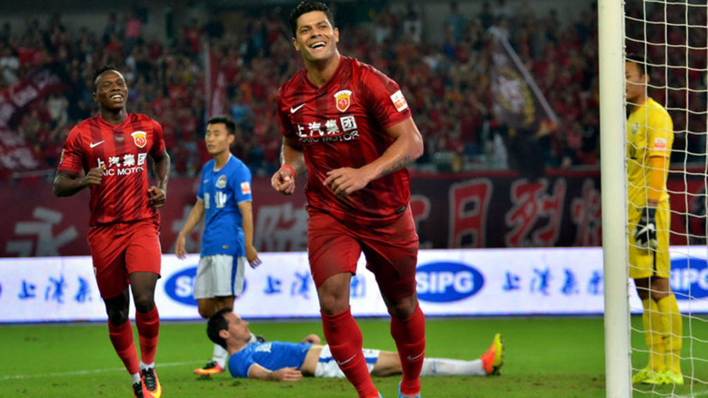 Brazillian Hulk in action for Shangai SIPG