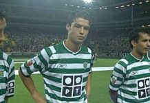 Cristiano Ronaldo vs Mnachster United in 2003 for Sporting