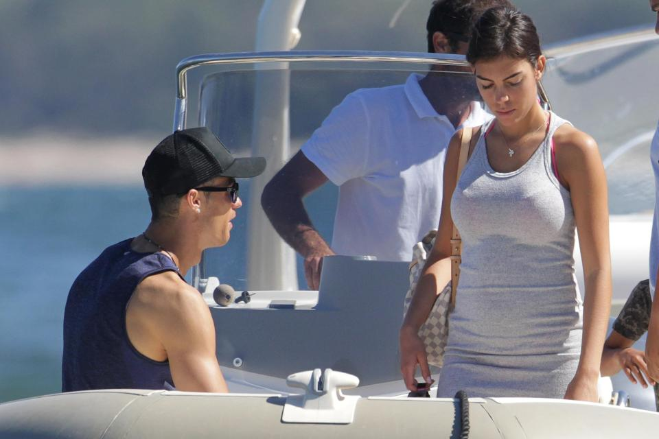 Cristiano Ronaldo and Georgina Rodriguez relaxing in yacht during their holidays in Ibiza
