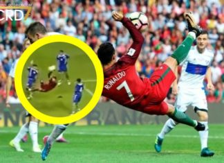 Cristiano Ronaldo scored aspectacular bicycle kick against Faroe Islands