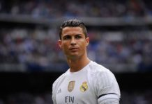 Ronaldo in a concentrated mood ahead of game