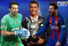 UEFA Best Player 2017 - Buffon, Ronaldo, Messi
