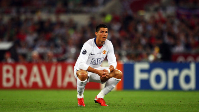 Ronaldo played his last game for Manchester United in the 2009 UEFA Champions League Final against Barcelona. Manchester United lost 3:1