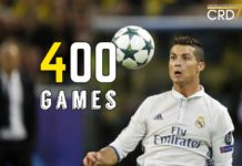 Cristiano Ronaldo will play his 400th game against Borussia Dortmund