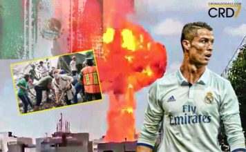Cristiano Ronaldo prays for Mexico after deadly earthquake that has caused explosions in Mexico City.