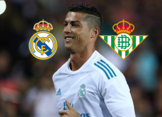Cristiano Ronaldo in Real Madrid vs Real Betis September 20, 2017
