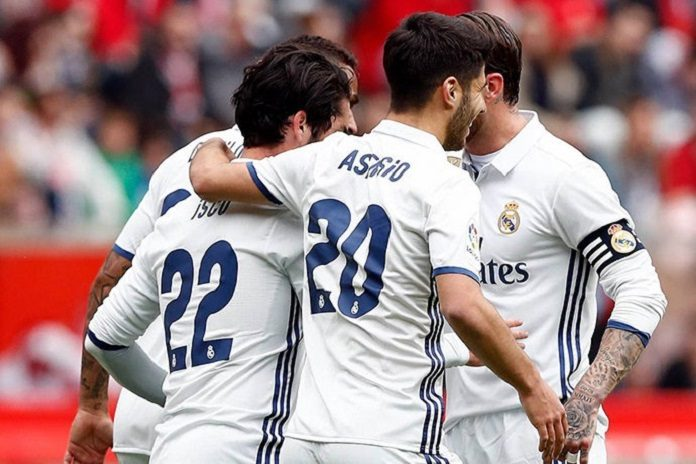 Isco and Asensio celebrate Real Madrid goal