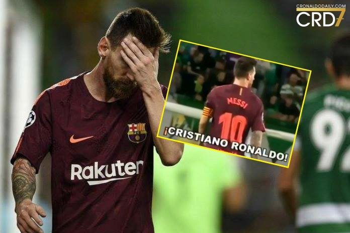 A messi fan invaded the pitch at the Estádio José Alvalade