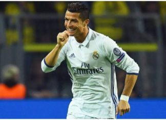 Ronaldo scored against DOrtmund at the Signal Iduna park to continue his great form against German sides