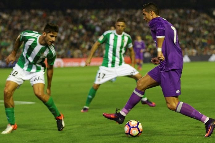 Ronaldo in action against Real Betis