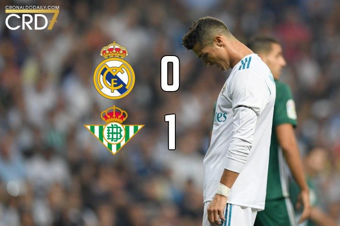 Ronaldo had start in 2017/18 La Liga as Real Mdrid lost 1-0 to Real Betis