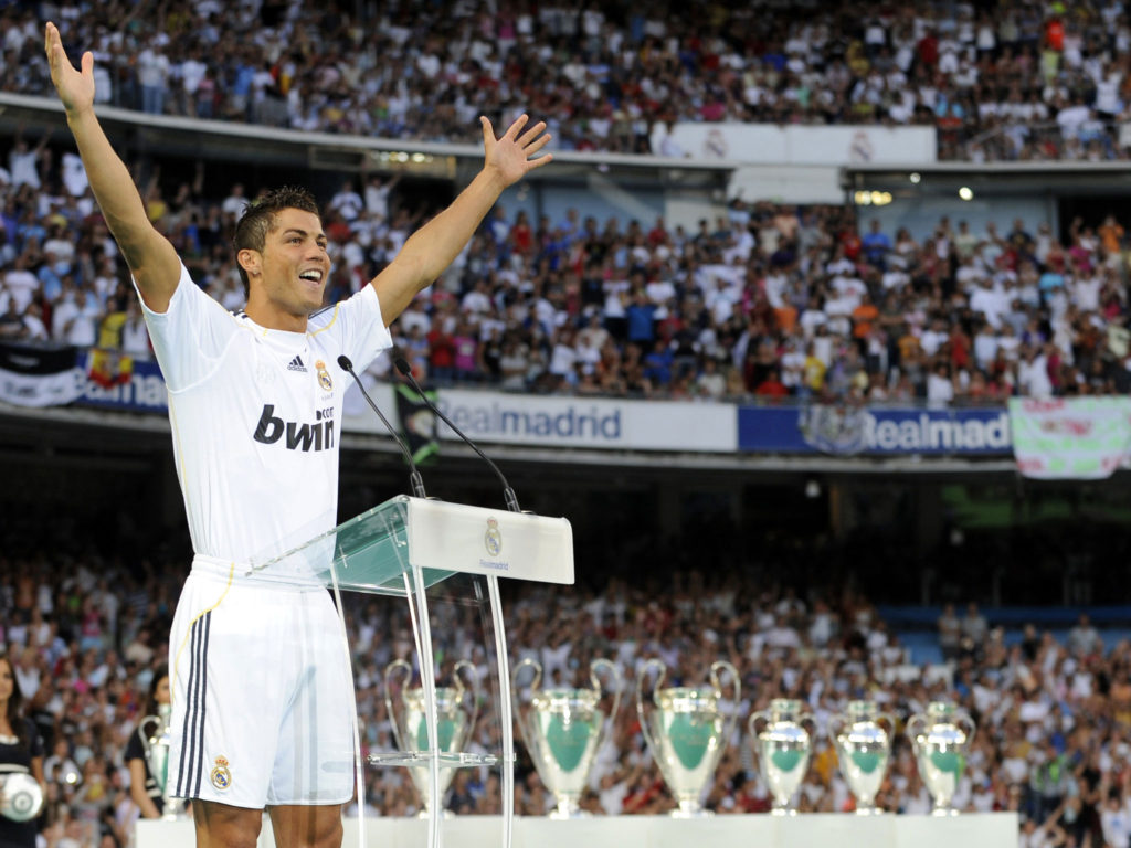 Ronaldo's official presentation as a Real Madrid player in 2009