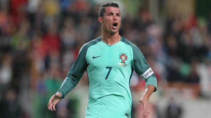 Ronaldo celebrates goals for Portugal
