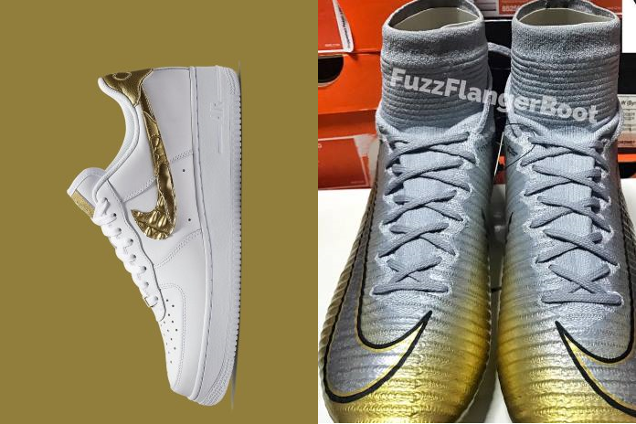 3650434fb54 Nike AirForce 1 CR7 and the NIke Mercurial Superfly Qunito Trifuno