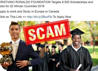 Fake news - Cristiano Ronaldo Foundation African Union Scholarships