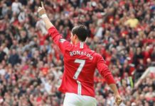 Cristiano Ronaldo at the Old Trafford 2008