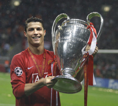 2007/2008: Ronaldo wins his first UEFA Champions League trophy with Manchester United in Moscow