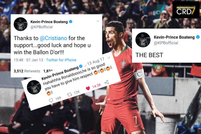 Compilation of Kevin-Prince Boateng's Cristiano worship tweets