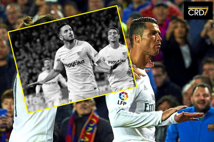 dbceb6eee25 Ronaldo s  Calma  celebration honored by Sarabia vs Barcelona